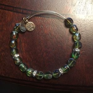 Alex and Ani emerald bracelet